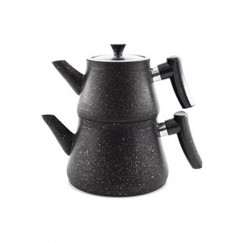 Bakalit Kulplu Granit Piramit Çaydanlık Siyah Fiyati ile En Uygun