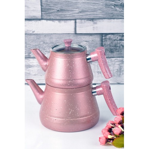 Granit Renkli Çaydanlık Takımı Pembe Fiyati ile En Uygun