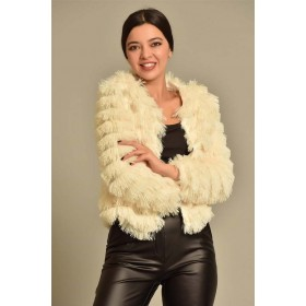 Beyaz Peluş Ceket
