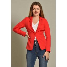 Kırmızı Tek Düğme Ceket